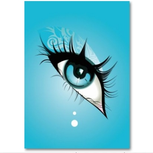 Poster blue eye