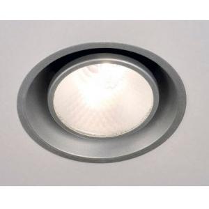 Einbau Deckenlampe silbergrau