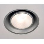 Dekorative Lampen - Einbau Deckenlampe silbergrau