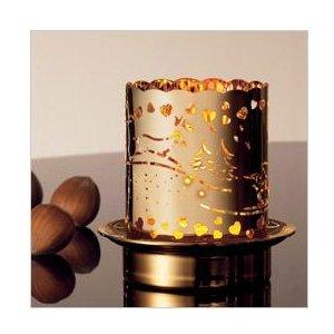 Vergoldetes Teelichthalter für den Winter