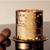 Teelichter und Kerzen - Vergoldetes Teelichthalter für den Winter