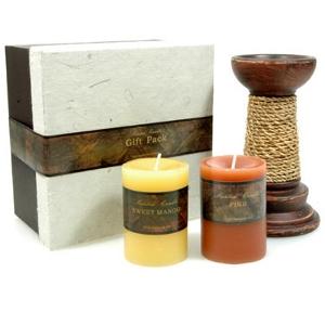 Teelichter und Kerzen - Kerzen Geschenkset modische Farben