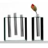 Tischdekoration - Glasvasen und Teelichter Silverstar