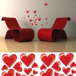 Wanddekoration - Wandsticker Herzen