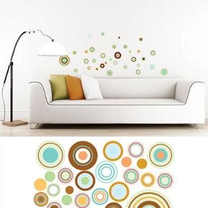 Wanddekoration - Wandsticker Kreise