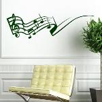 Wanddekoration - Wandsticker - Musik und Noten