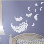 Wanddekoration - Wandsticker - Schlafzimmer - Federn