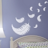 Wanddekoration - Wandaufkleber - Retrolook - Quadrate