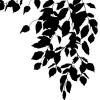 Wanddekoration - Wandtattoo Blätter hängend