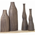 Zimmerdekoration - Vasen in Mocca